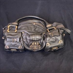 Black leather juicy couture purse